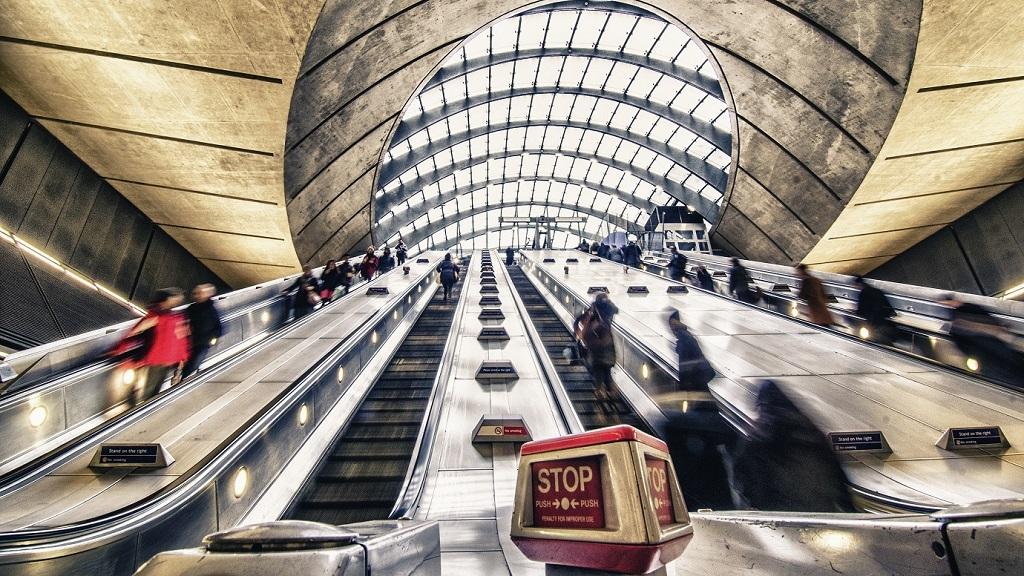 The,Escalator,In,The,Underground,Station.